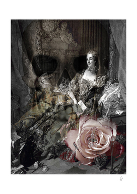 Beauty Never Lasts Goth Collage Art