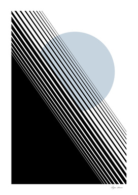 Rising Sun Minimal Japanese Abstract White Black Light Blue