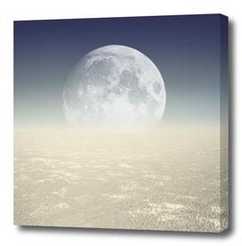 Desert Moon, Sepia Blue