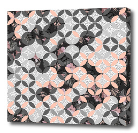 MOSAIC PATTERN AND EXOTIC NOCTURNAL BLOOM I