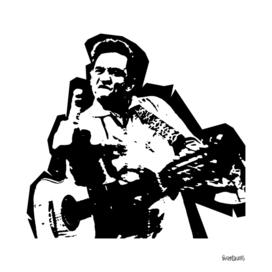 Johnny Cash Stencil