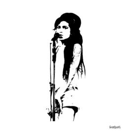 Amy Winehouse Stencil