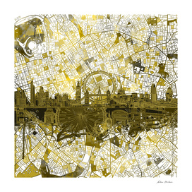 london city skyline abstract 4