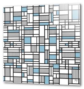 Map Lines Sky Blue