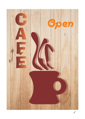 Coffee Poster 80 - Open