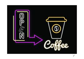 Coffee Poster 82 - Neon Light