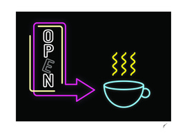 Coffee Poster 83 - Neon Light