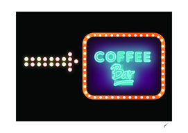 Coffee Poster 86- Neon Light