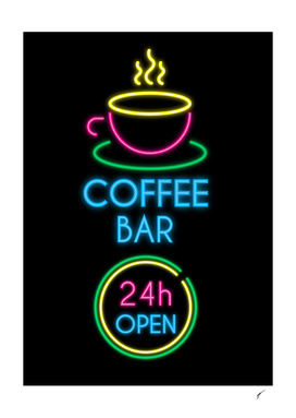 Coffee Poster 94 - Neon 24H