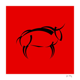 Black Bull on red