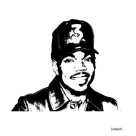 Chance the Rapper Stencil