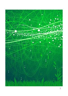 Sparkling green grass