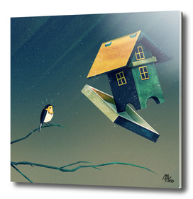 Flying Bird...house