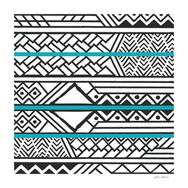 Tribal ethnic geometric pattern 032
