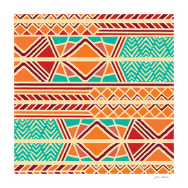 Tribal ethnic geometric pattern 027