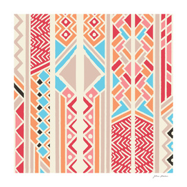 Tribal ethnic geometric pattern 033