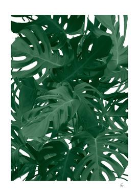 monstera jungle painting