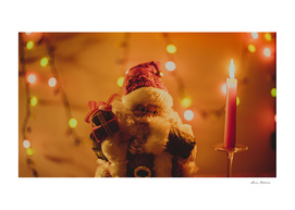 Santa Claus Christmas Gifts Candle Lights