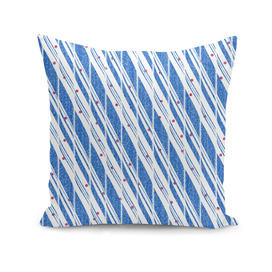 Candy Cane Blue Stripes Holiday Pattern