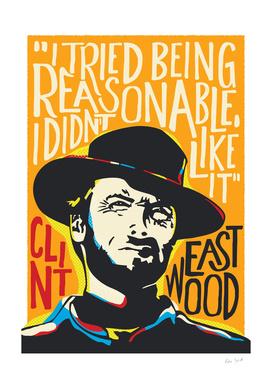 Clint Eastwood Pop Art Portrait