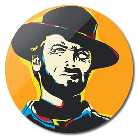 Clint Eastwood Pop Art Portrait