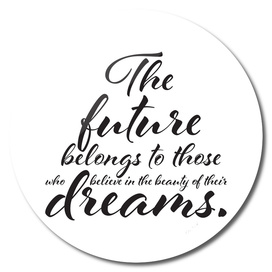 Dream quote, inspirational quote said by Eleanor Roosevelt