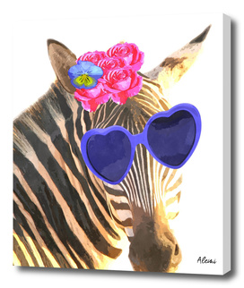 Funny Zebra Illustration