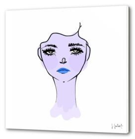 Purple Mood Portrait Illustration