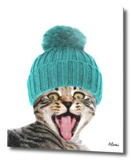 Cat with Hat Illustration