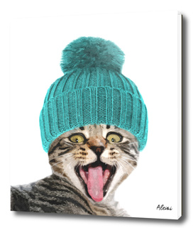 Cat with Hat Illustration