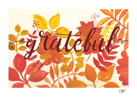 Grateful Watercolor