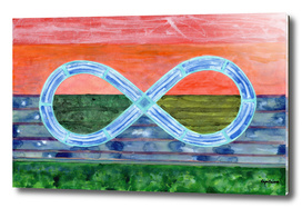 Eternity Symbol over Landscape