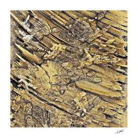 Baby Handprints In Gold And Black