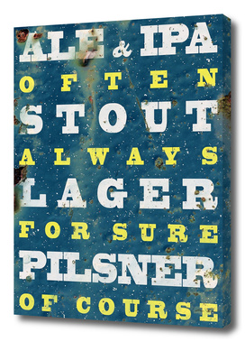 Beer always, Beer poster, vintage poster