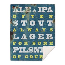Beer always, Beer poster, vintage poster