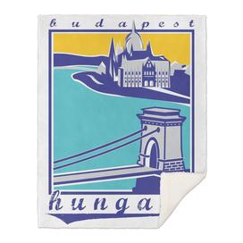 Budapest, Chain Bridge, Hungary, Magyar poster 2