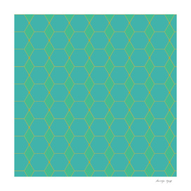 Blue and Green Hexagons