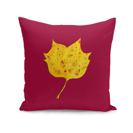 Fancy Watercolor Yellow Autumn Leaf