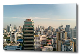 Cityscape of Bangkok. above the Skyscrapers.