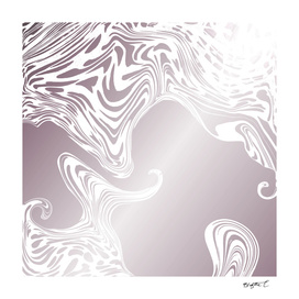 Rose Gold Liquid Marble Effect Design