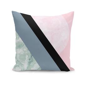 Turquoise Pink Geometric