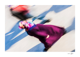 Turkish woman is walking