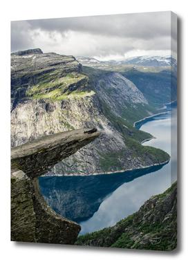 People on Trolltunga, Norway