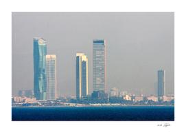 Skyscrapers in the skyline of Izmir (Turkey)