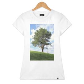 Tree and man
