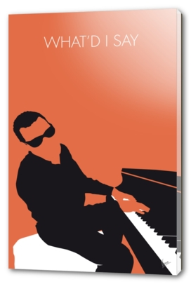 No003 MY Ray Charles Minimal Music poster-curioos