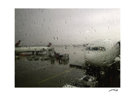 Storm at the airport by #Bizzartino