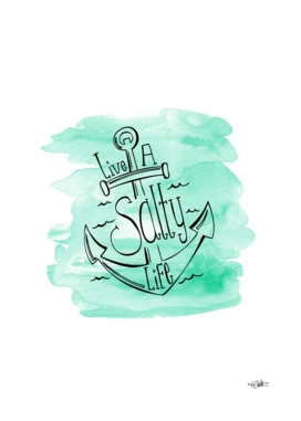 Live A Salty Life Aqua