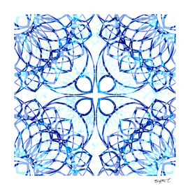 Blue Boho Chic Mandala Pattern