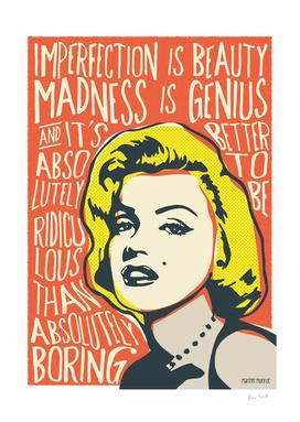 Marilyn Monroe  pop art quote